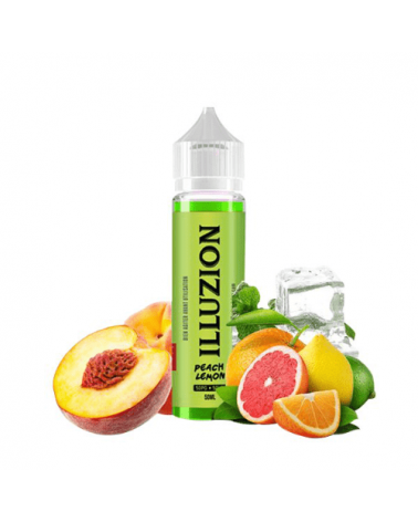 E-liquide Peach Lemon 50ml sans nicotine - Illuzion