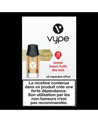 Capsule e-liquide ePod 18mg nicotine - Saveur Fusion Fruits des Bois - Vype