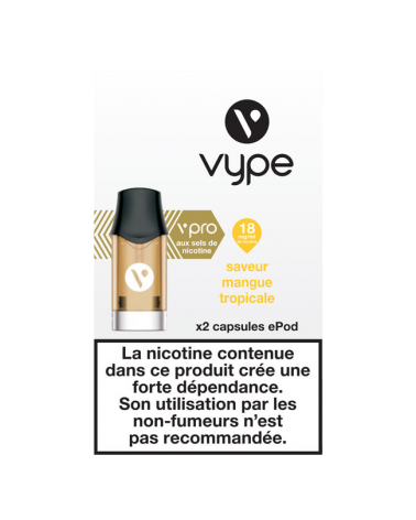 Capsule e-liquide ePod 18mg - Saveur Mangue Tropicale - Vype