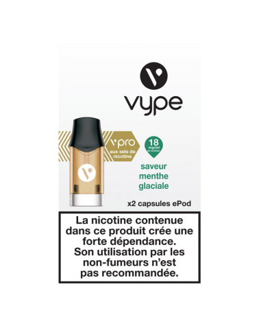 Capsule e-liquide ePod 18mg - Saveur Menthe Glaciale - Vype