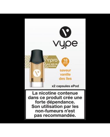 Capsule e-liquide ePod - Saveur Vanille des îles - Vype