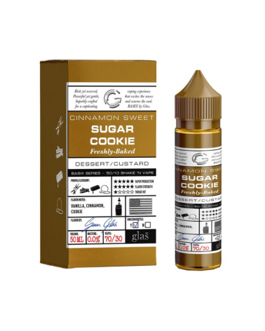 E-liquide Sugar Cookie 50ml sans nicotine - Basix Series – Glas Vapor