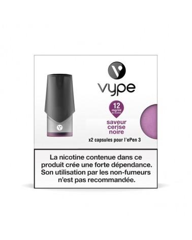 Capsules ePen 3 Saveur Cerise Noire - recharge e-liquide VYPE