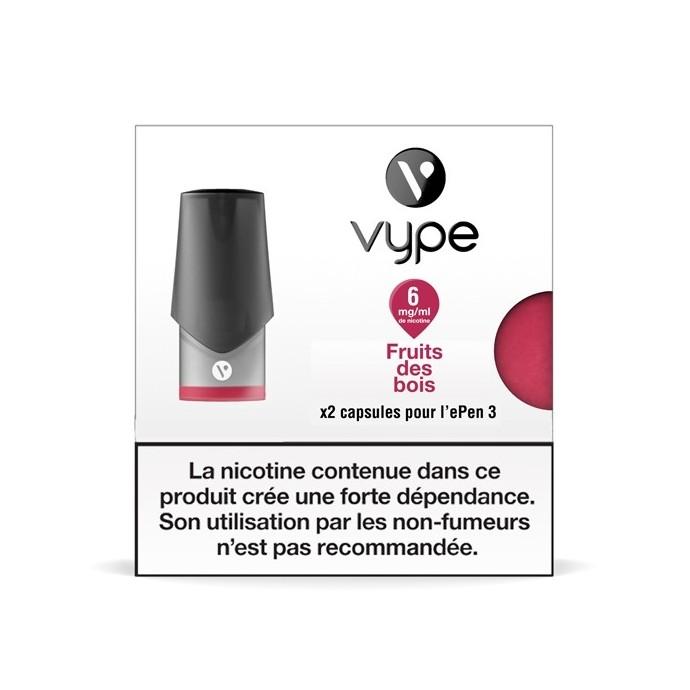 Capsule ePen 3 Saveur Fruits des Bois - recharge e-liquide VYPE 12mg/ml