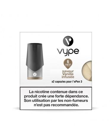 Capsule ePen 3 Saveur Vanille Infusée - recharge e-liquide VYPE