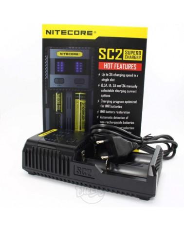 Nitecore SC2 Chargeur Rapide pour Batteries et Piles